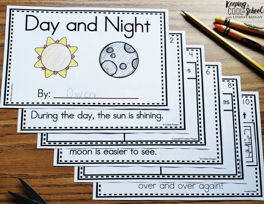 day and night science interactive reader