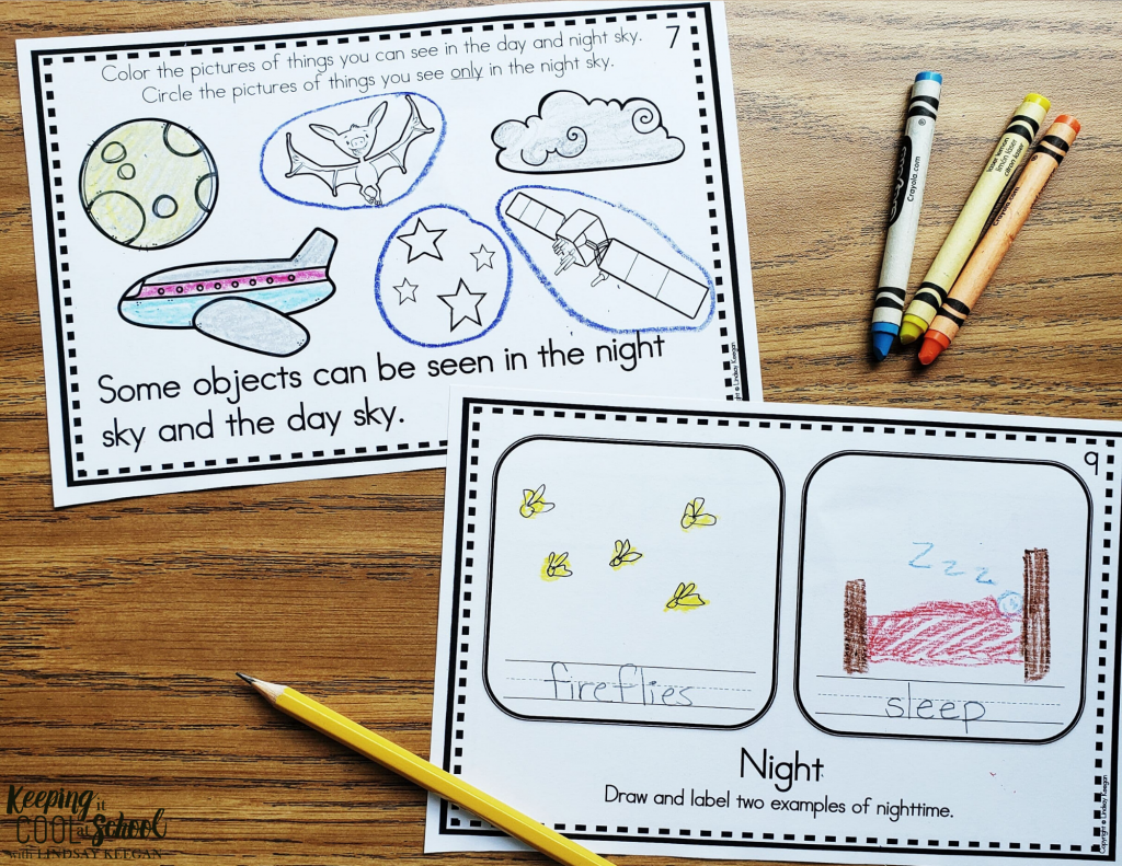examples of pages from a science interactive reader.