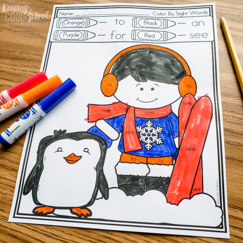 winter reading activities for kindergarten