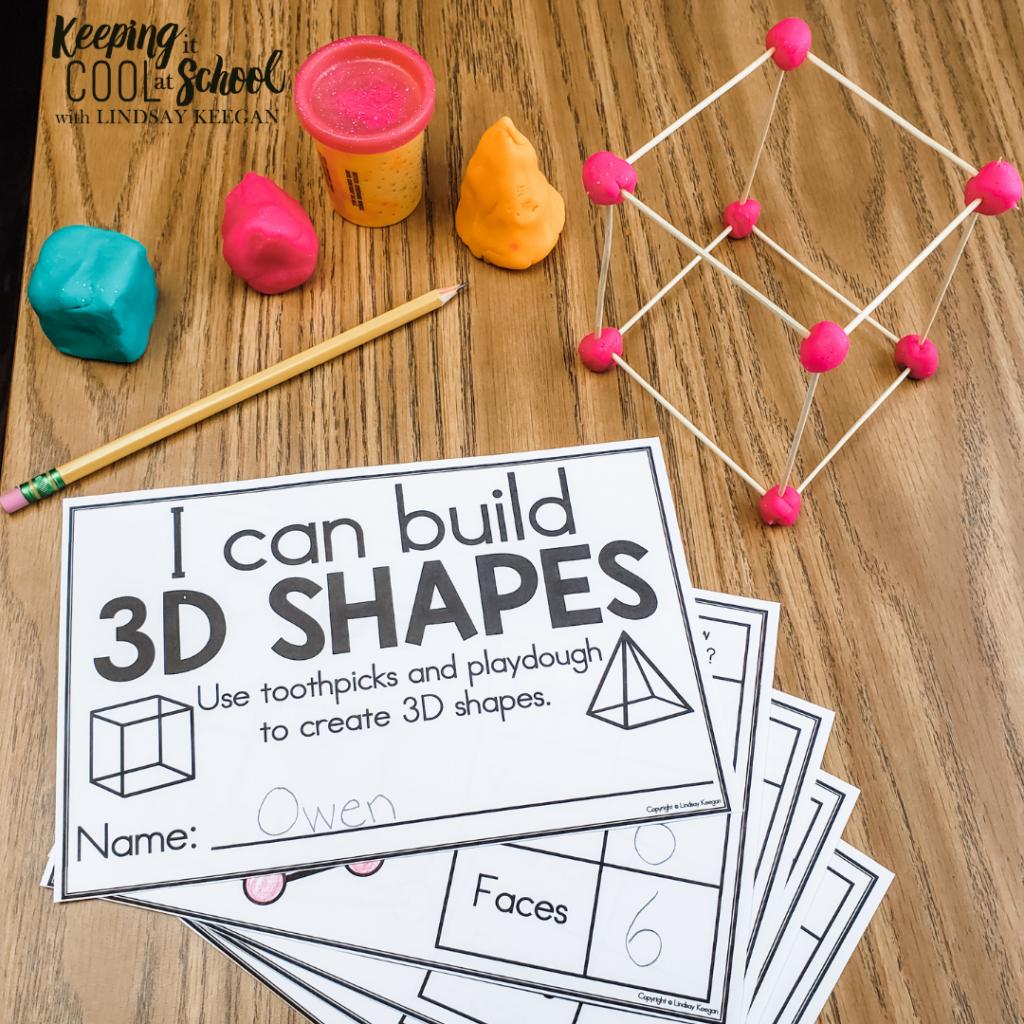 free 3d shapes building activity