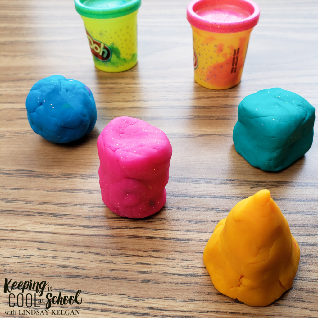3d shapes made from play dough