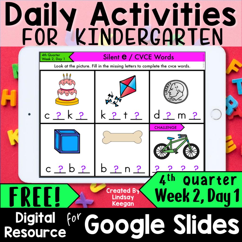 Daily Digital Morning Work for Kindergarten
