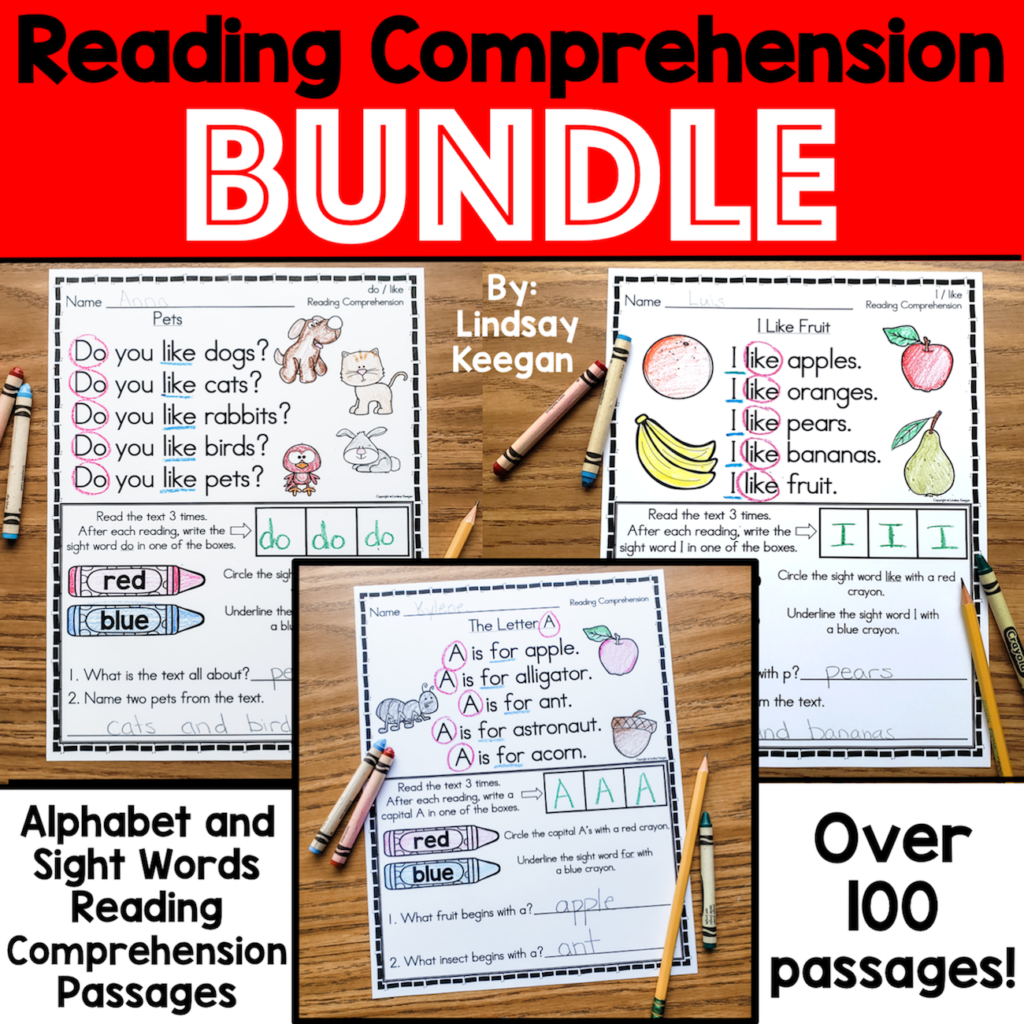 Fluency and reading comprehension activities