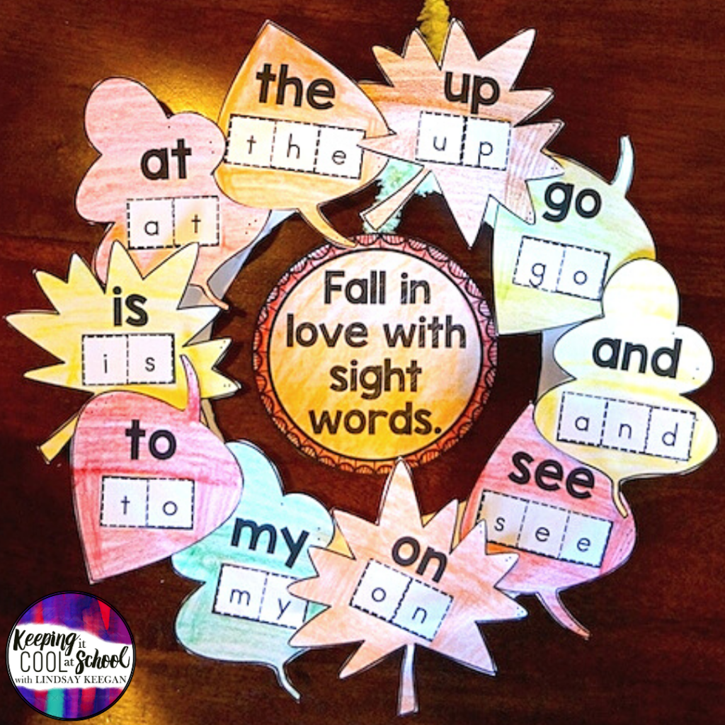 Fall Craft for Sight Words