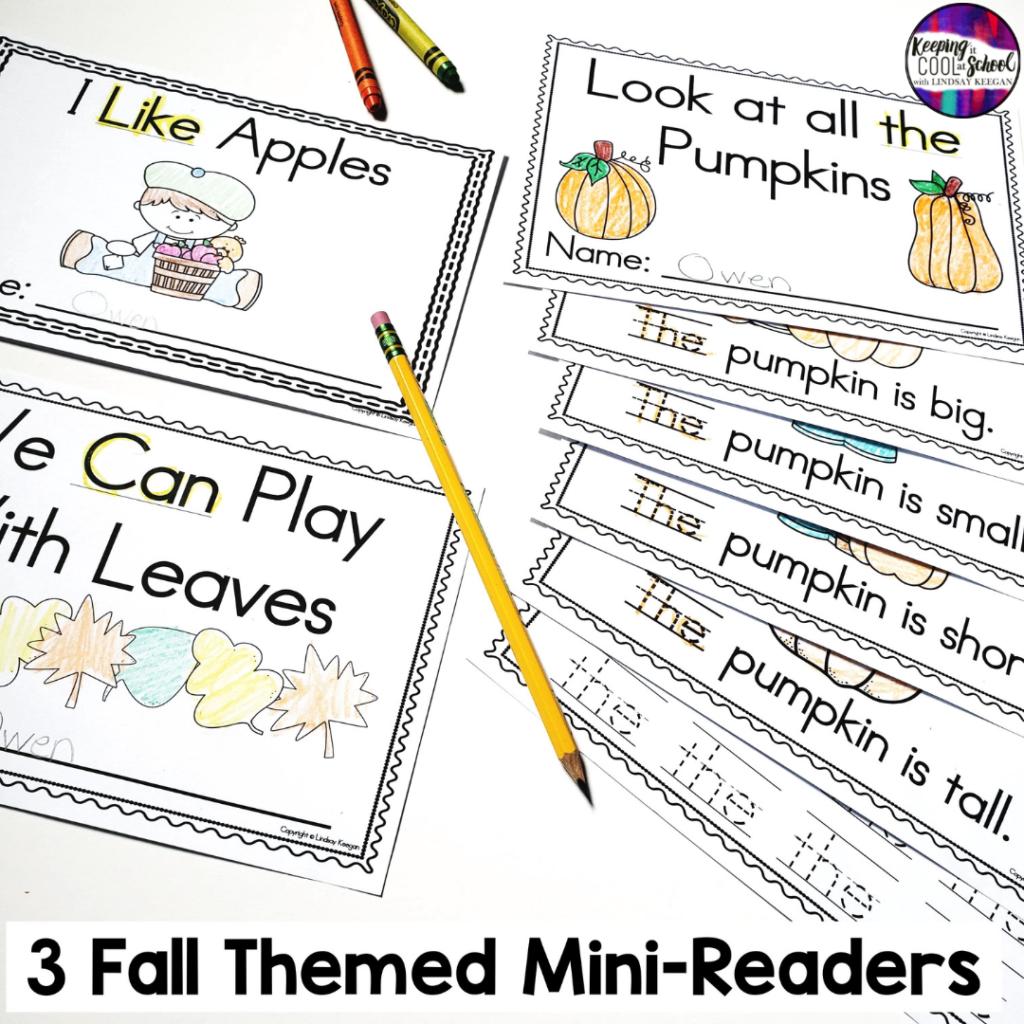 Fall themed mini readers