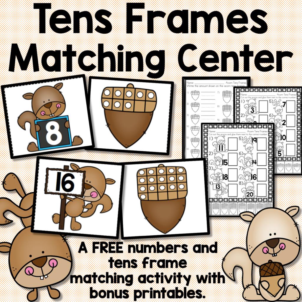 Free Tens Frames math center